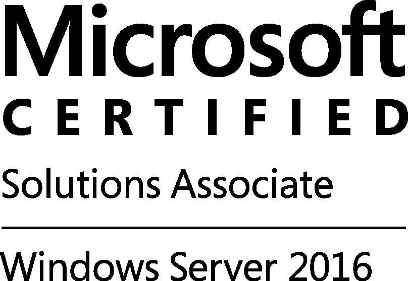 MCSA WinSvr2016-logo-Blk